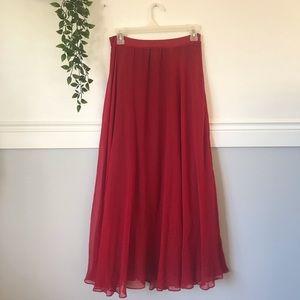 Anthropologie Moulinette Soeurs Red Maxi Skirt